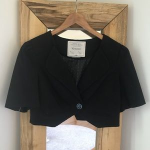 Anthropologie Cartonnier Cropped Blazer Jacket 10